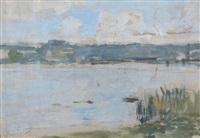 bord de rivière by eugène boudin