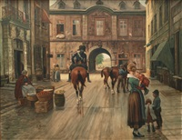 the berger gate in düsseldorf by theodor lindner
