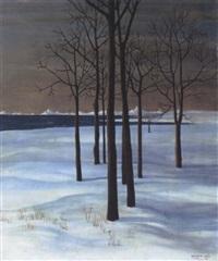 winterlandschaft by herbert reyl-hanisch