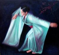 turquoise kimono by sandra fabie-gfeller