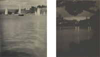 hamilton (bermuda), twilite (+ sailboats in harbor near chester, nova scotia; 2 works) by karl struss