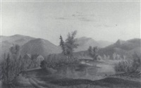 view of the panther river, raymond, maine by charles frederick kimball