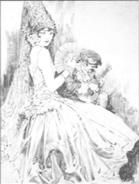 woman wearing mantilla serenaded by daniel smith