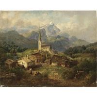 borgo in baviera by johann baptiste heinefetter