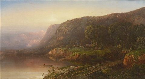 mountain scene on the ohio river by william louis sonntag