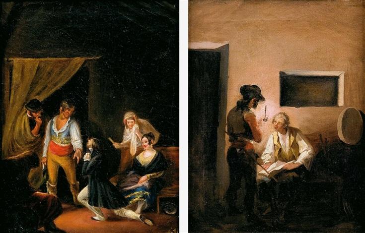 escenas románticas pair by leonardo alenza y nieto