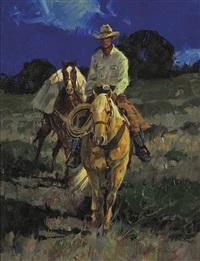 night on pinion ridge by kim mackey