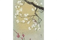 coming of spring (red and white ume) by kazuko gokura