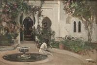 a moorish garden by john lavery