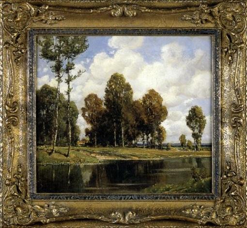 summer landscape by alfred reinhardt
