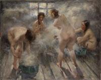 in a russian banya by vitaly gavrilovich tikhov
