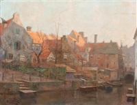 view of the westsingel and the sprengel, amersfoort by hendrik jan wolter
