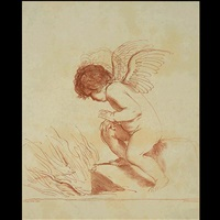 putto on a rock by francesco bartolozzi