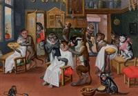 les singes perruquiers by ferdinand van kessel