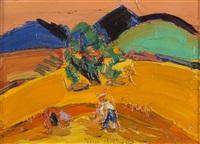 paysans aux champs by pierre ambrogiani
