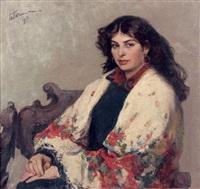 jeune femme au châle by valentine petchatine