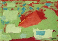 red and green abstract by nejad devrim