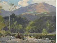 hills in the sunlight (landscape) by elmer wachtel