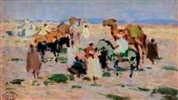 méhariste dans le désert by henri sené