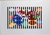 untitled i from five dots suite by yaacov agam