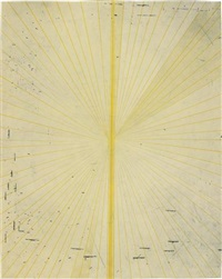 untitled (blonde butterfly 804) by mark grotjahn