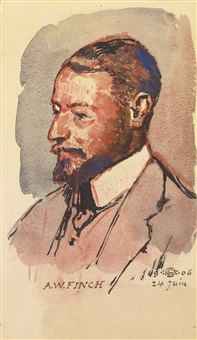 portrait de l'artiste, alfred william finch by georges lemmen