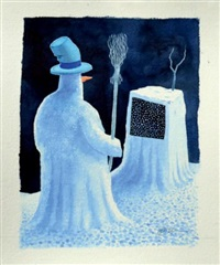 neige sur l'écran, réseau tdf archaïque by jean dobritz