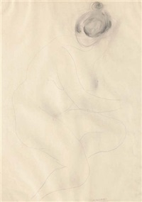 nudo di donna (+ bozzetto; 2 works) by alberto viani