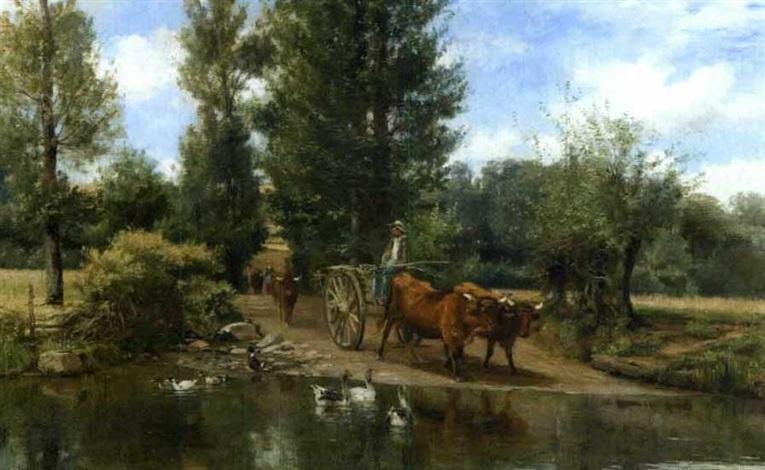 le gué de caumont itrac cantal by léon barillot