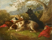 a picnic with the dogs by george armfield