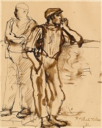 two figures by pavel tchelitchew