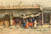 carpet sellers in bayburt by boris ivanovich tsvetkov