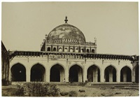 the jumma mosque from the courtyard, india by thomas biggs