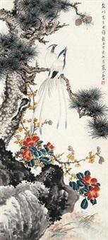 松绶图 by jiang hanting