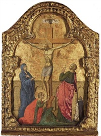 the crucifixion with a dominican friar by paolo veneziano