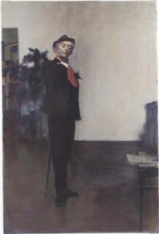 portrait of quentin crisp by alex koolman
