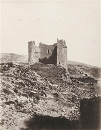 karak, vue extérieure de la forteresse, tour dite de malek-ed-daher by henri sauvaire