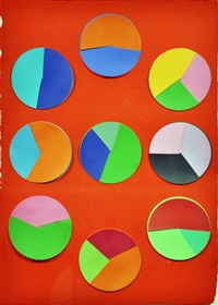red/9 circle palettes by irene barberis