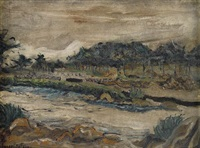 untitled (river landscape) by joseph delaney