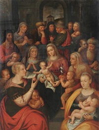 la famille de la sainte vierge by willem key