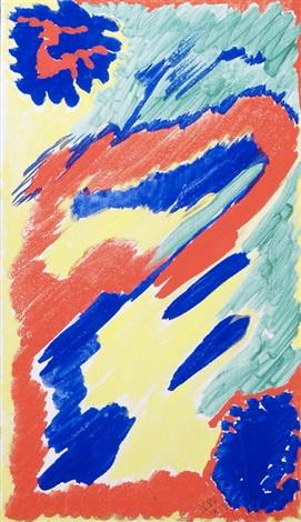 komposition in rot blau gelb und grün by nell anna charlotta walden