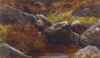 rocks and heather by james faed the younger