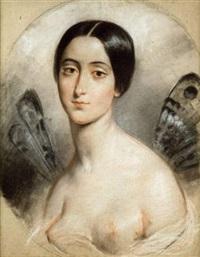 portrait de mademoiselle stock by françois gabriel guillaume lépaulle