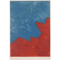 composition rouge et bleue (schneider 32) by serge poliakoff