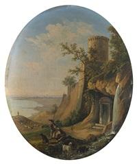 fortezza con golfo sullo sfondo by giacinto gigante