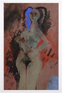 mujer con azul by roger von gunten