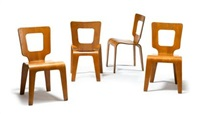 dining chairs (collab. w/donald lewis jordan; set of 4) by herbert von thaden
