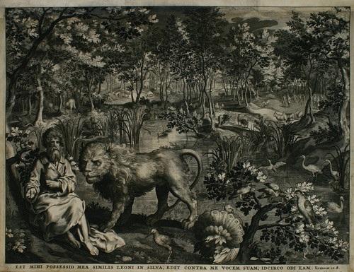 jeremias mit dem löwen im walde by nicolaes de bruyn