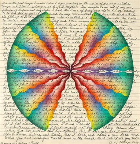 ruth and arlene drawing from compressed women who yearned to be butterflies  by judy chicago