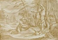 saint jean-baptiste révèle le christ à saint pierre et saint andré by domenico piola
